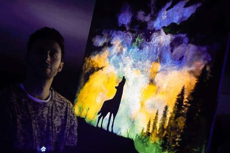 glow in the dark paint crisco art