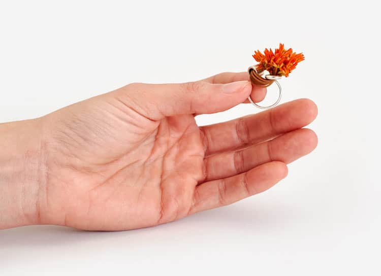 ikebana diy flower ring