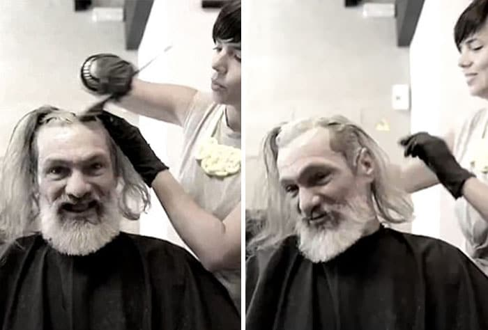 homeless man transformation