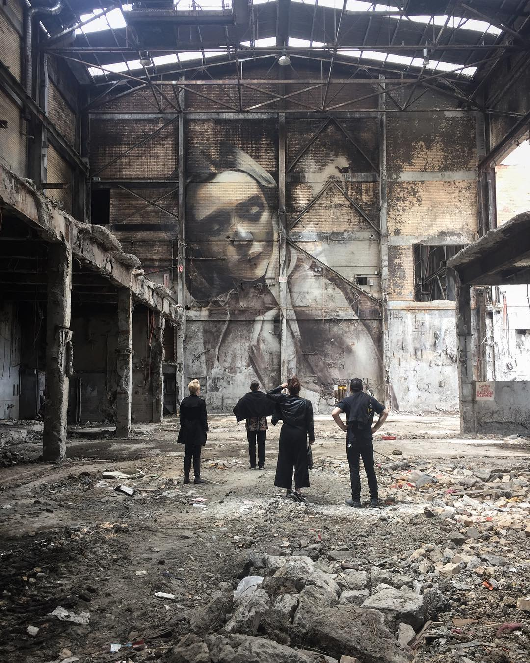 street art in abandoned place