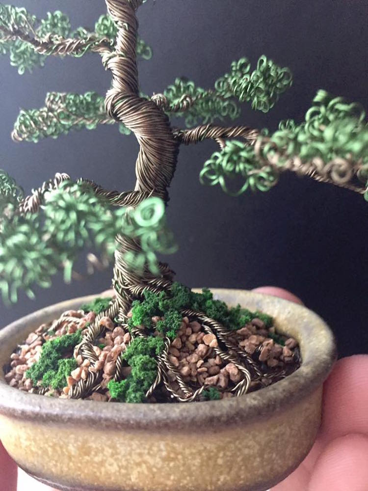 How To Make Wire Bonsai Tree Sculpture | Wire Tree Art Of Bonsai Trees Means Your Plant Will Live Forever