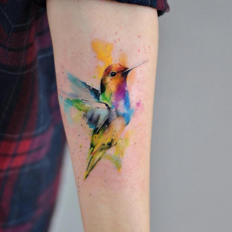 Delicate Watercolor Tattoos Look Like Beautiful Paintings on Skin