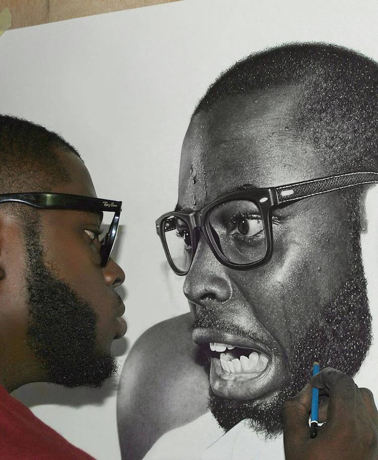 Arinze stanely nigerian artist hyper realistic pencil art