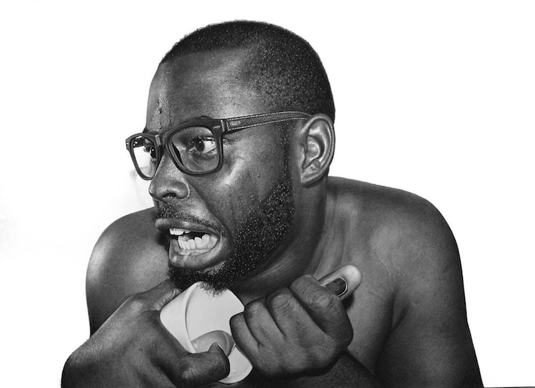 arinze stanely nigerian artist hyper realistic pencil portraits