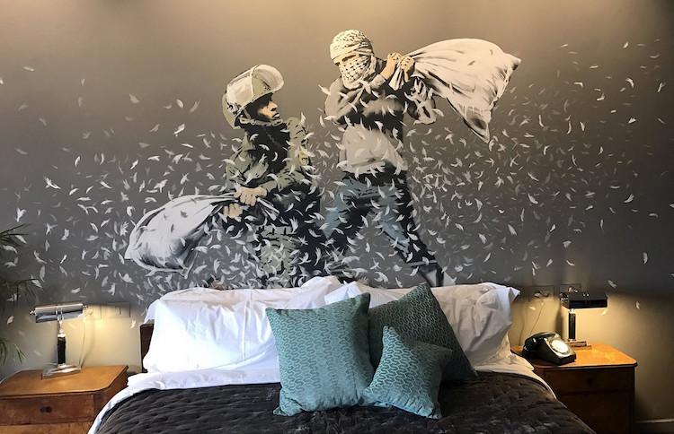 banksy palestine bethlehem walled off hotel