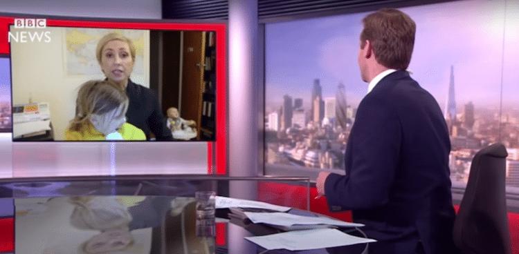 bbc dad interview parody mom funny kids viral