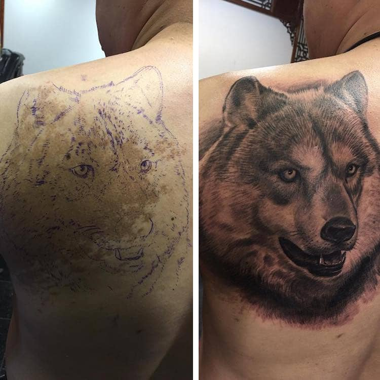 creative birthmark tattoo cover up