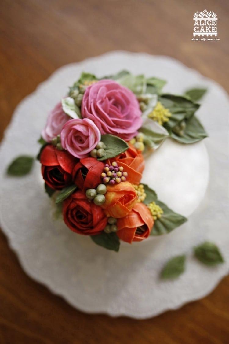 cake flower diy