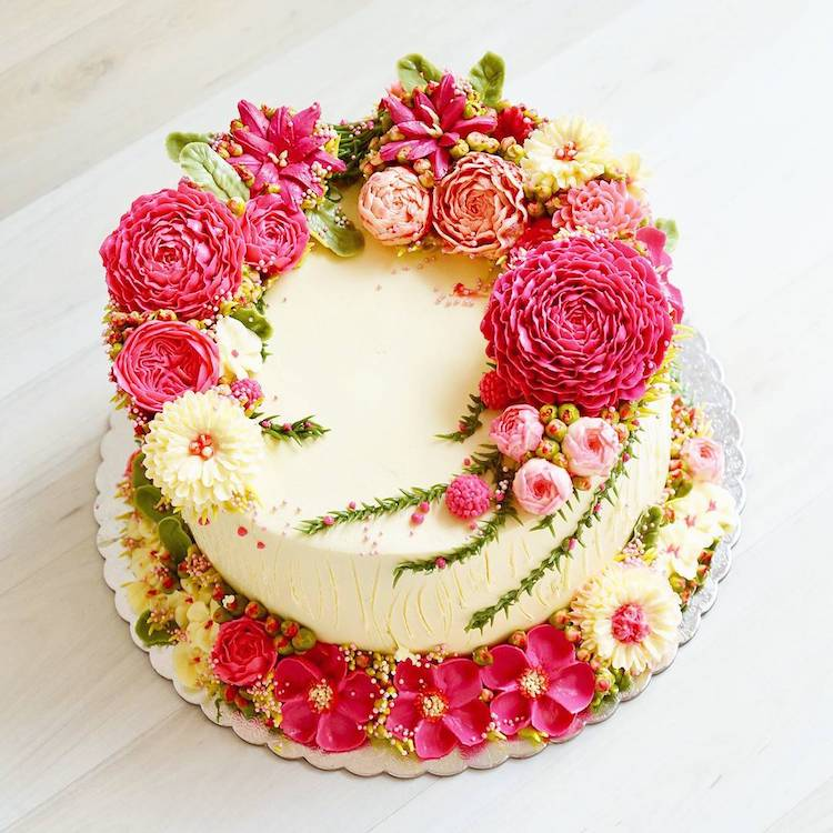 Buttercream Flower Cakes Are a Delicious Way to Welcome Spring