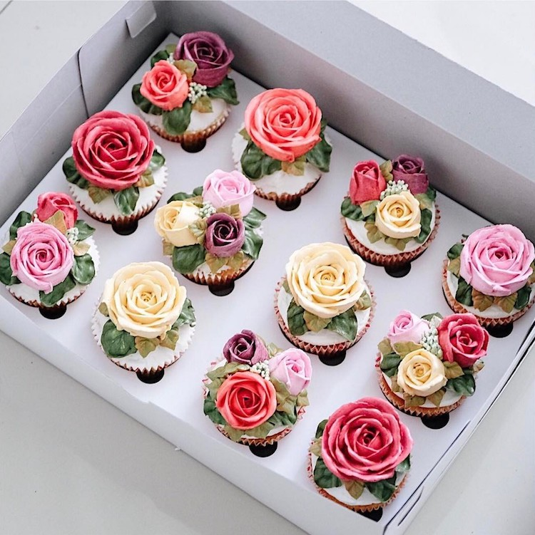 Flower Wedding Cupcake Ideas: Buttercream Flower Cakes Are A Delicious Way To Welcome Spring