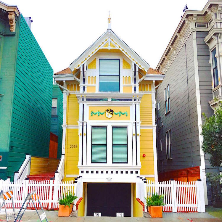 San Francisco S Candy Colored Houses Spring Colorful Homes Architecture