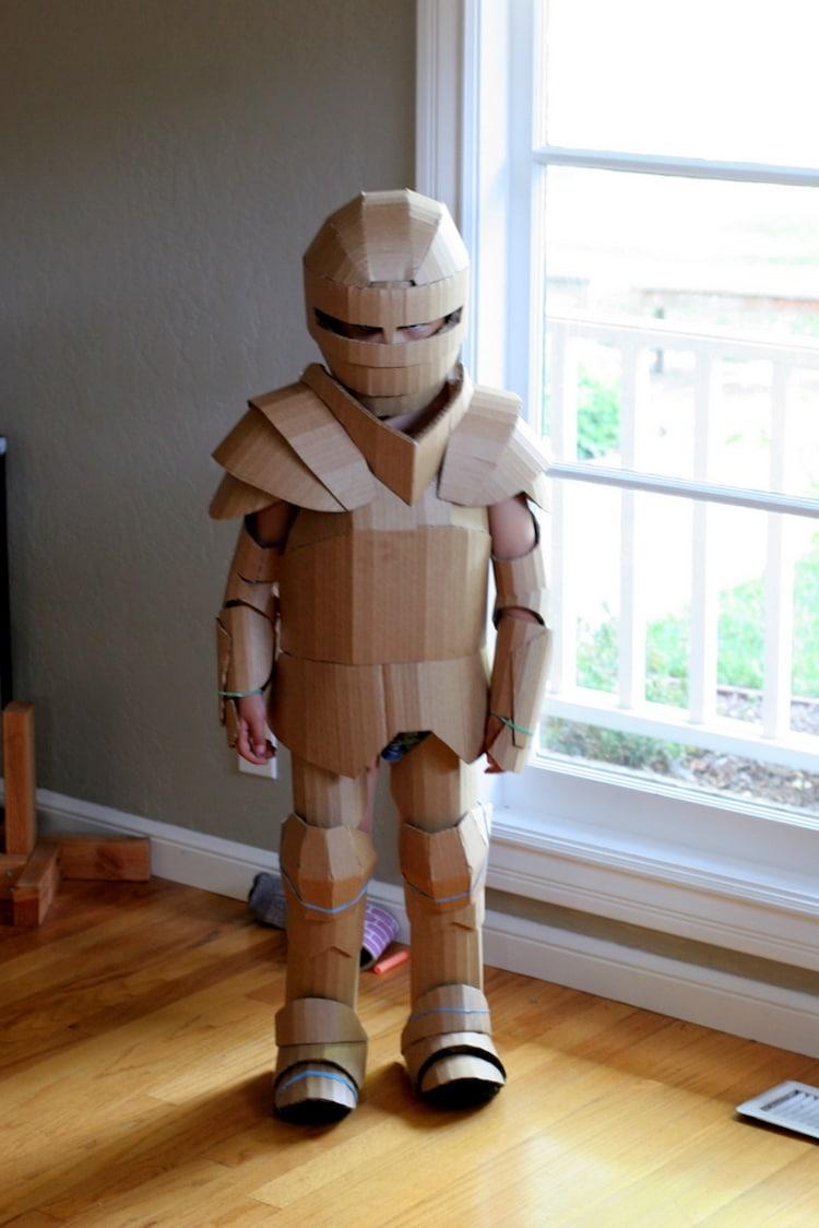 cardboard costume diy for kids