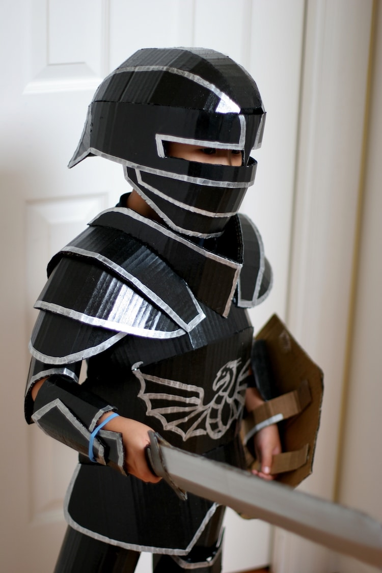Fantastical Cardboard Costume DIY Turns Boxes Into Knights Armor
