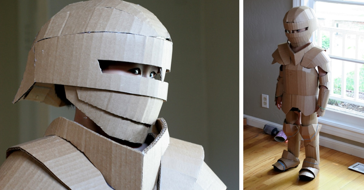 Fantastical Cardboard Costume DIY Turns Boxes into Knight's Armor