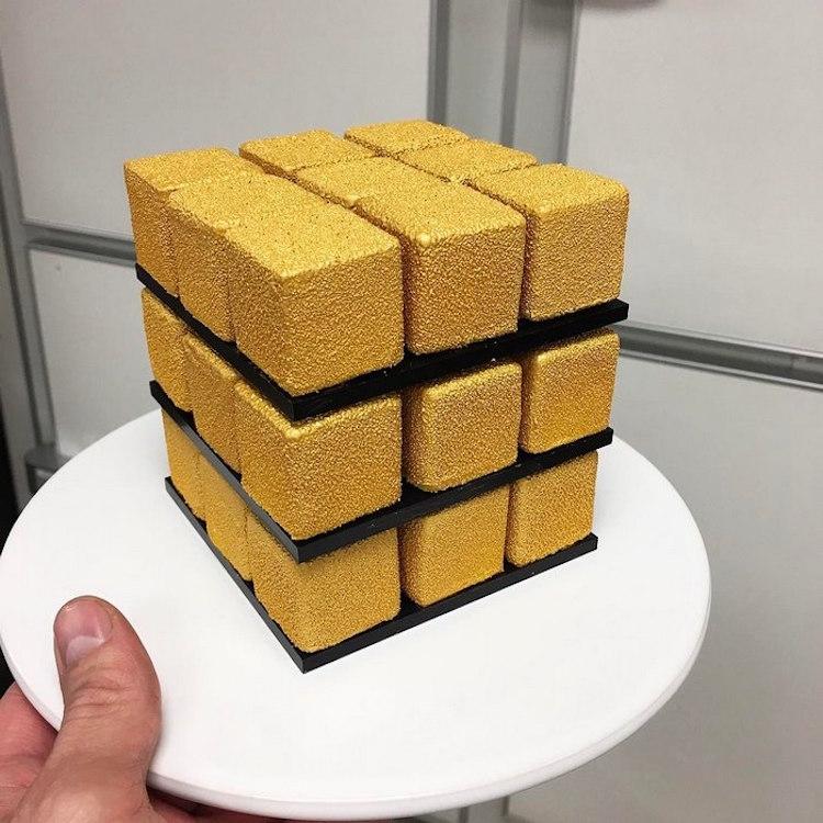 rubik s cube cake by cédric grolet