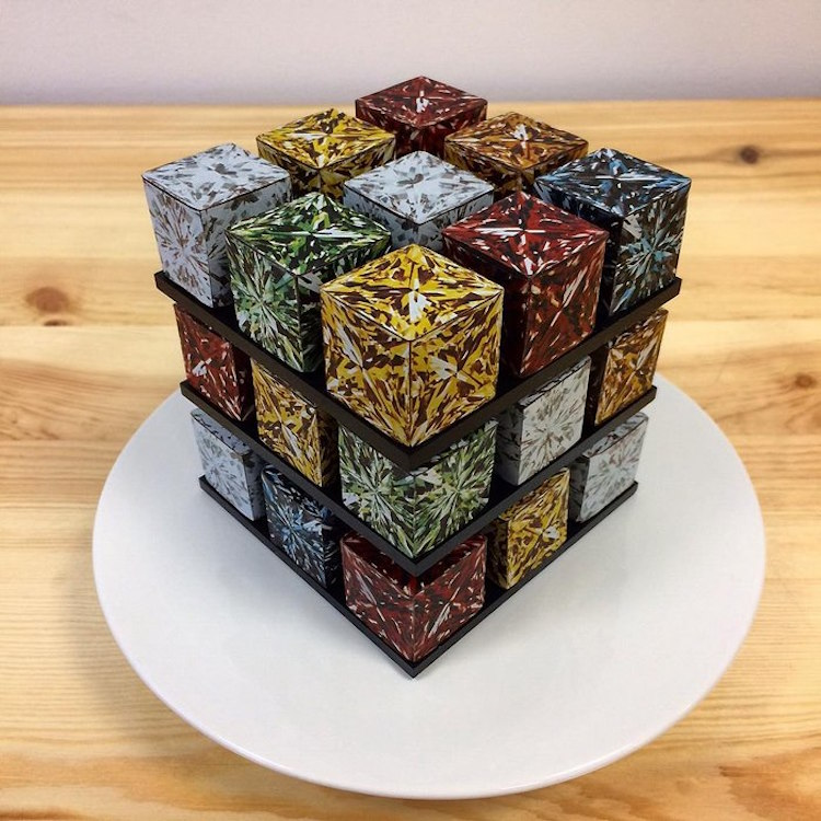 How To Make A Rubik S Cube Cake
