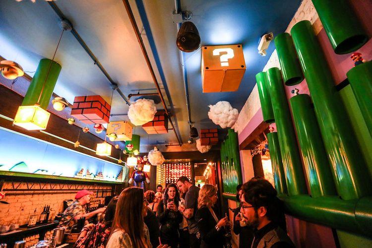 mario-themed bar
