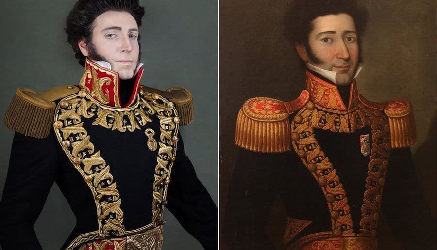 man s ancestors painting recreations are eerily accurate