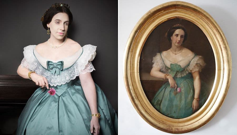 ancestor portrait recreations paintings photography creative