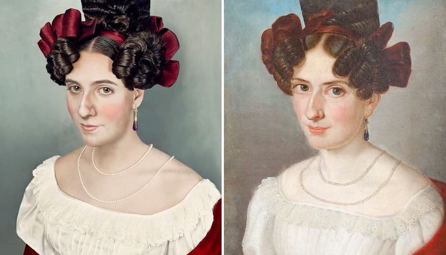ancestor portrait recreations paintings photography painting