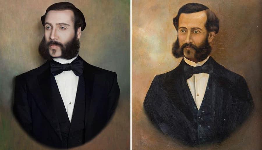 ancestor portrait recreations paintings photography