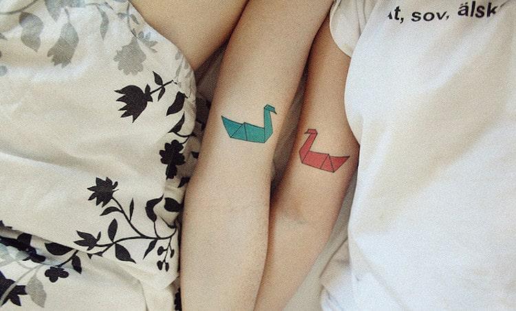 Tatuajes en pareja creativos