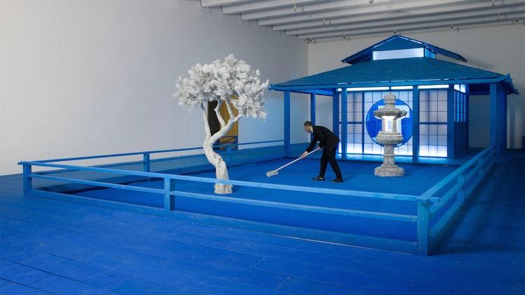 Daniel Arsham Hourglass Exhibit Blue Zen Garden