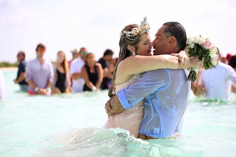 water wedding