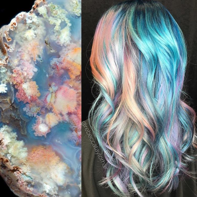 Geode Hair by Rebecca Taylor