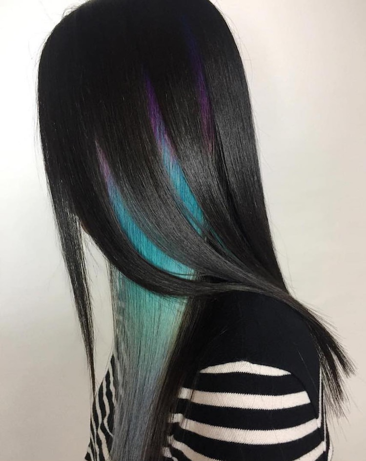 Geode Hair Trends Uses Dazzling Crystals As Hair Color Inspiration
