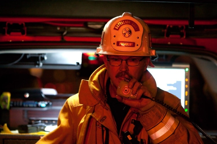 fire fighter portrait photography