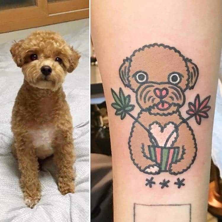kiran cartoon inspired pet tattoos animals cute body art
