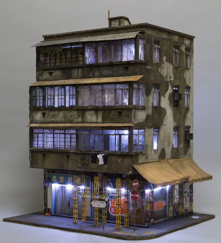 scale models of urban buildings by miniaturist joshua smith