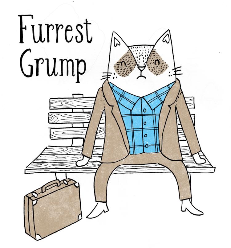cat art puns