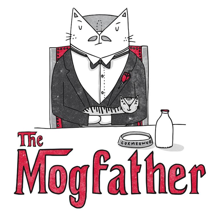 illustrated cat puns