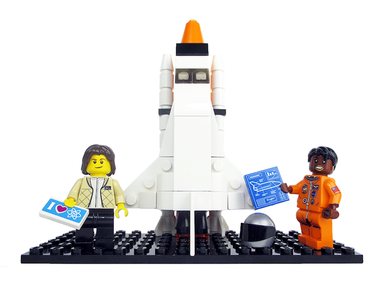 lego women of nasa minifigs