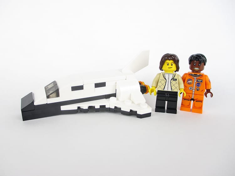 women of nasa lego minifigs