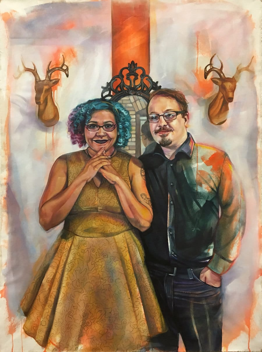 leslie barlow loving paintings of interracial couples mixed media