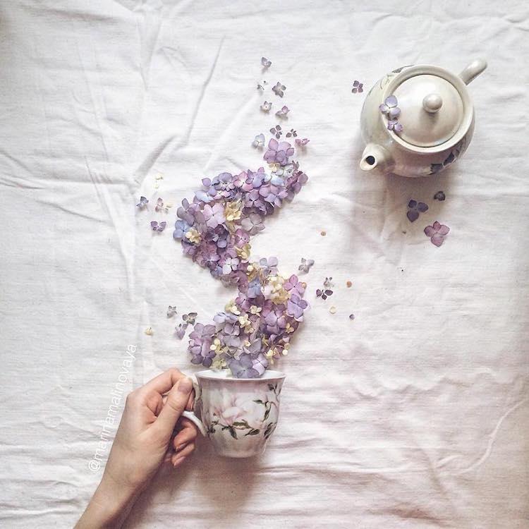 marina malinovaya floral tea story flower teacup photography tea