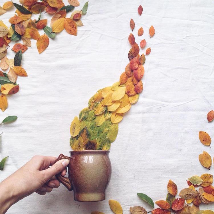 marina malinovaya floral tea story flower teacup photography fall leaves