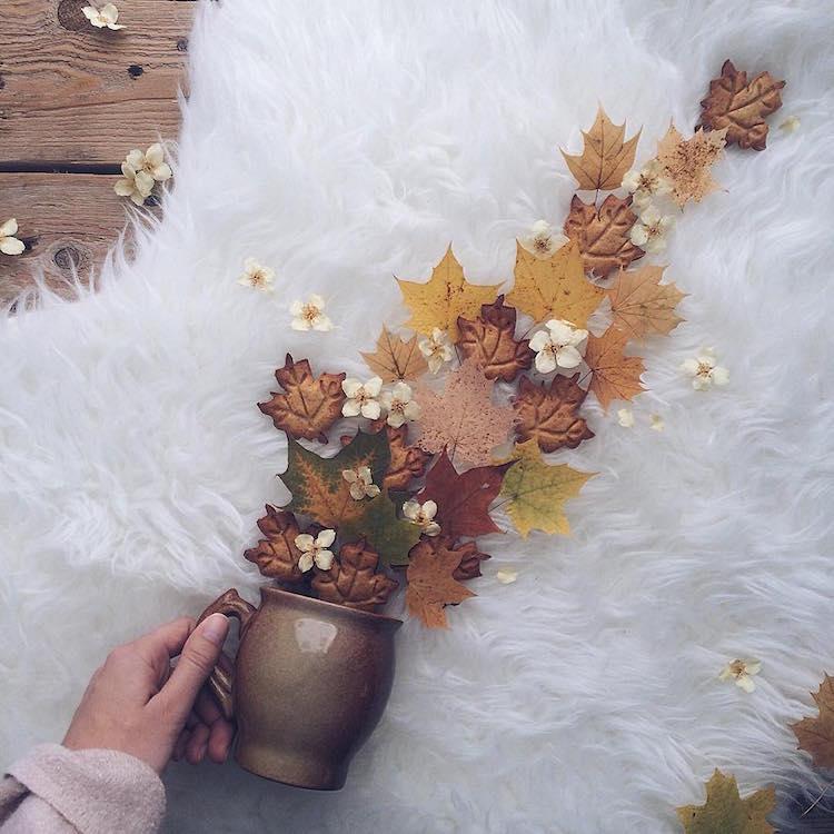marina malinovaya floral tea story flower teacup photography autumn leaves