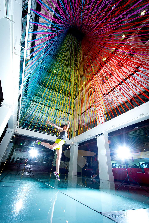 tape art installation megan geckler