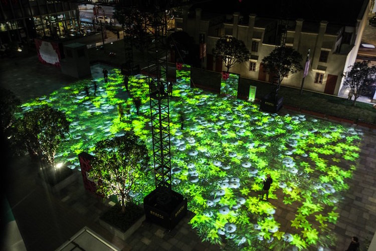 New Projection Mapping Set By Miguel Chevalier Celebrates