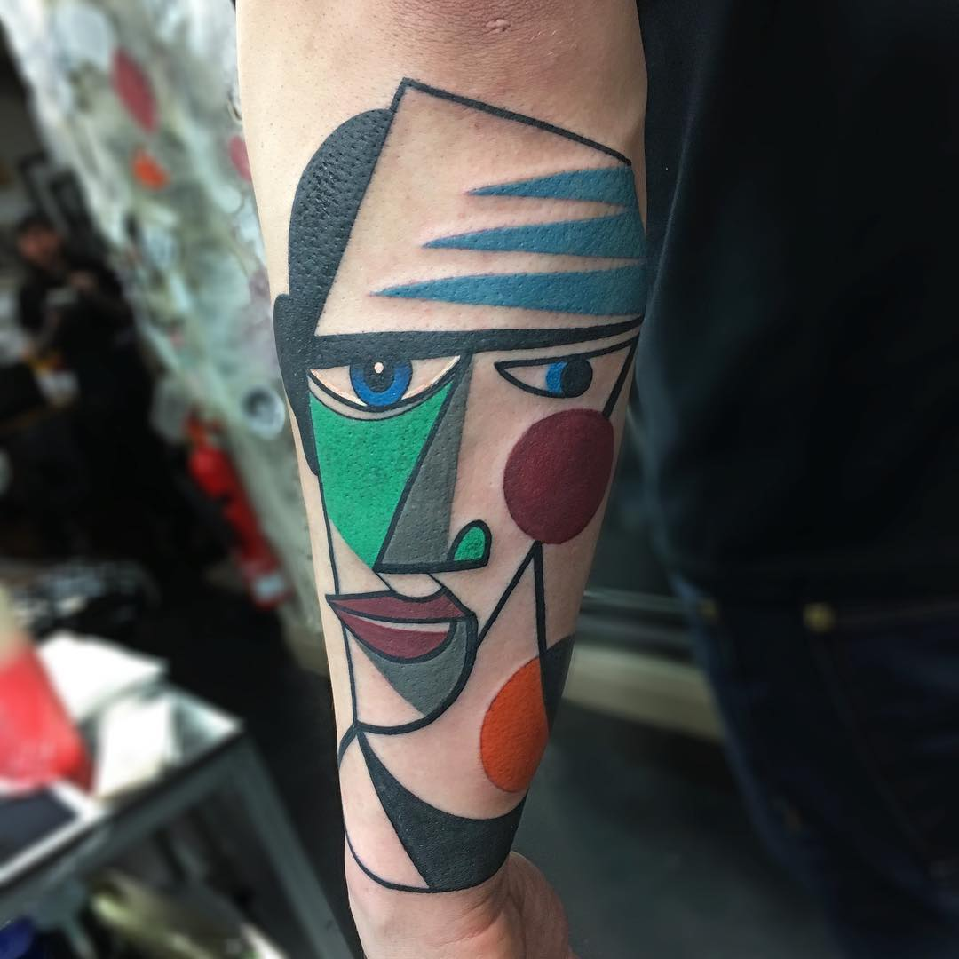 Image result for colored abstract tattoo