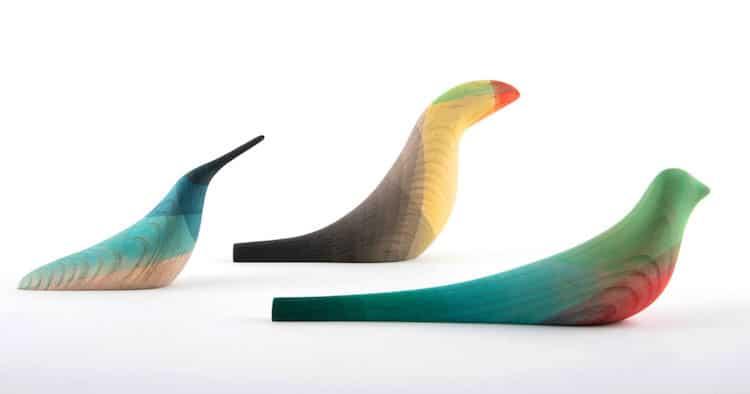 ed birds moises hernandez minimalist wooden sculptures