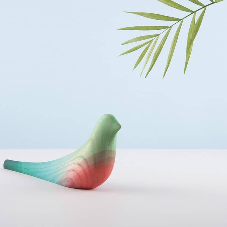 ed birds moises hernandez minimalist wooden sculptures mexican quetzal