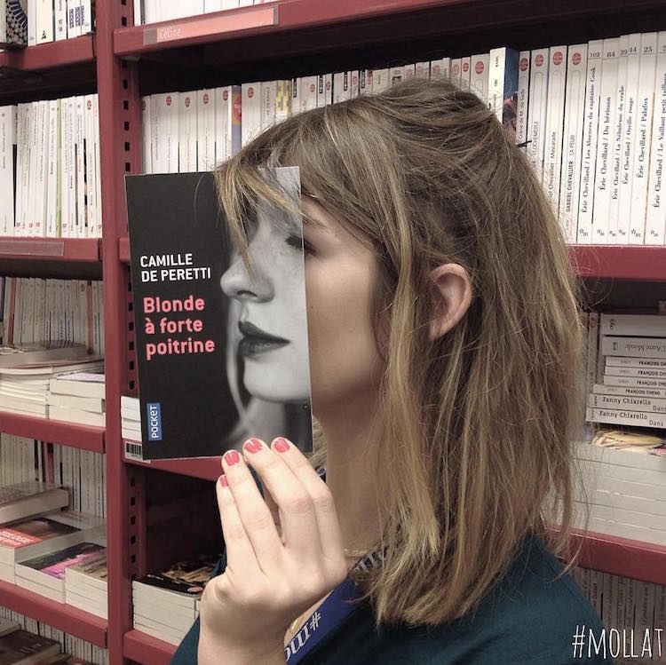librairie mollat book face series photography funny book cover art