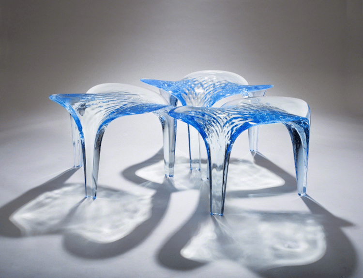 nature-inspired furniture zaha hadid liquid glacial