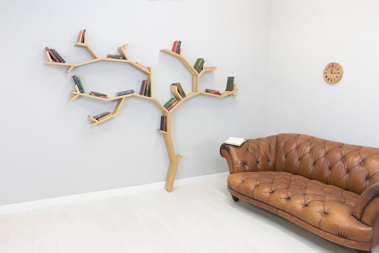 nature-inspired furniture bespoak interiors tree bookshelf
