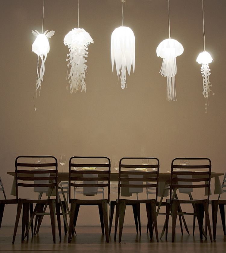 nature-inspired furniture roxy russell medusae lamps lighting